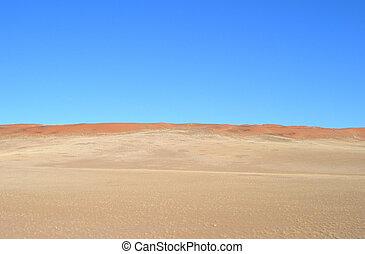 dunas, en, el, desierto de kalahari