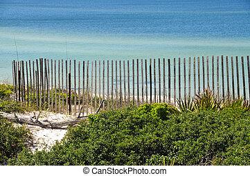 dunas, orilla, golfo