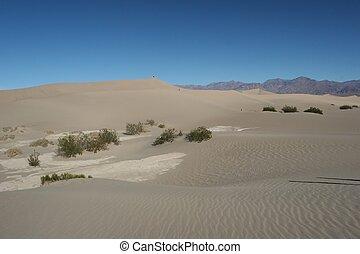 dunas, stovepipe, arena, pozos