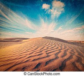 dunas, thar, desierto, rajasthan, india