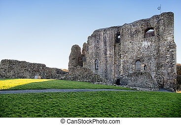 Dundonald Castle South Ayrshire Scotland against a blue sky