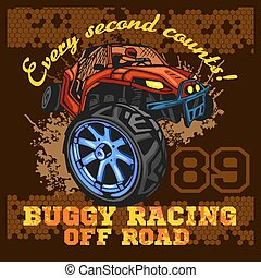 Dune buggy riders - off road badge