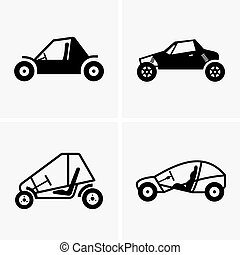 Dune buggy - Set of four Dune buggies
