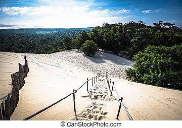 Dune du Pilat at 114 Metres the highest sand dune in Europe near Arcachon Gironde France Aquitaine