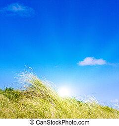 dune, idilliaco, luce sole
