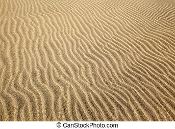 dune, motifs, sable, canaria, gran, vent, maspalomas, gauche