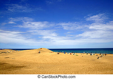 dune sable, vue