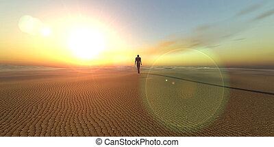 Dune - Symbolic scenery (3D rendered)...