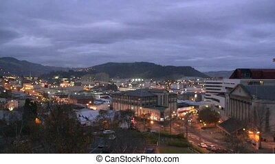 Dunedin City at dusk - Dunedin, New Zealand %u2013 May 2012...