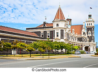 Dunedin Railway Station, South Island of New Zealand