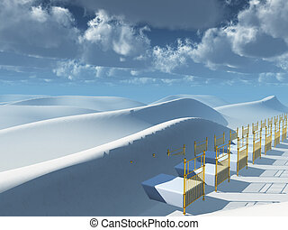 Dunes Dreams - Bed in desert dunes