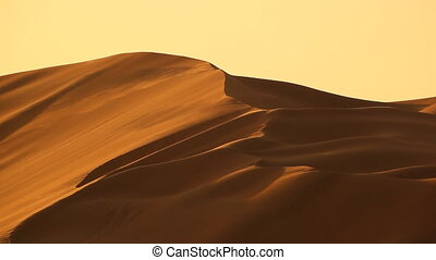 dunes in desert with wind.mov - sand being moved by desert...