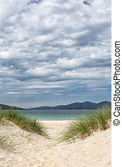Dunes in Scotland - Dunes on Luskentyre beach on the Isle of...
