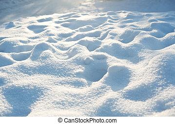 dunes, neige