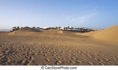 Dunes of Maspalomas in Gran Canaria, Canary islands, Spain....