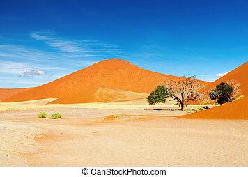 Namib Desert - Dunes of Namib Desert, Sossusvlei, Namibia
