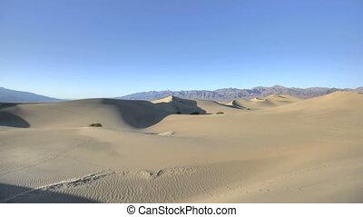 dunes, plat, sable, timelapse, mesquite