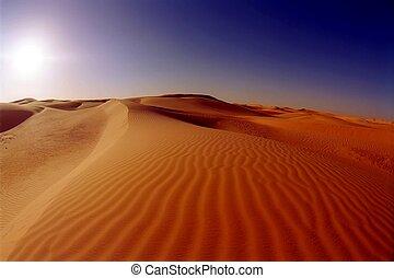 Dunes in the Sahara desert near Timimoun (Tinerkouk),...