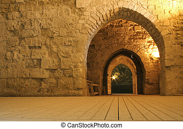dungeon arch - knight templer tunnel akko israel