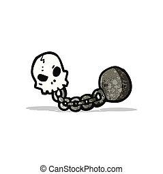dungeon skull cartoon