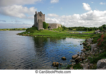 Dunguaire Castle, Ireland - View of the Dunguaire Castle,...