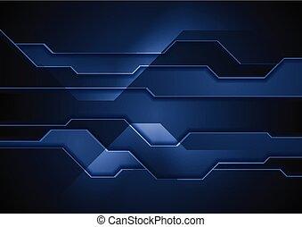 dunkel blau, abstrakt, technologie, hintergrund