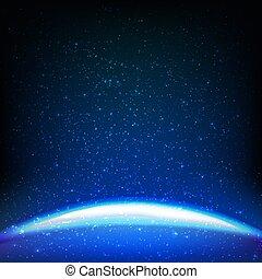 dunkel blau, hintergrund, raum
