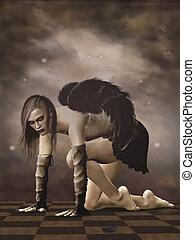 dunkel, engelchen