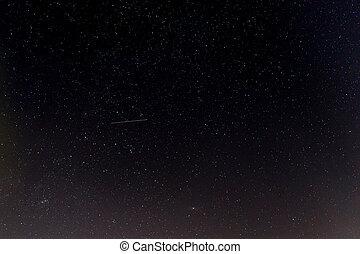 dunkel, nacht himmel, mit, stars.