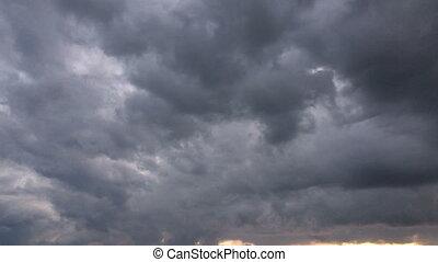 dunkel,  Timelapse, himmelsgewölbe, wolkenhimmel, Regen