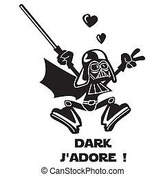 dunkel, vador, h?ro, zeichen