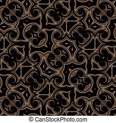 dunkel, weinlese, orientalische , hintergrund, kaleidoskop