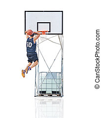 dunking to the hoop