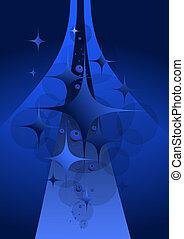 dunkler hintergrund, blaues, abstrakt