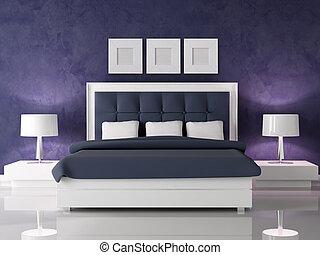 dunkler purple, schalfzimmer