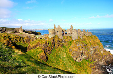 dunluce borg, norra irland