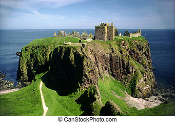 dunnottar, アバディーン, 城, スコットランド, stonehaven