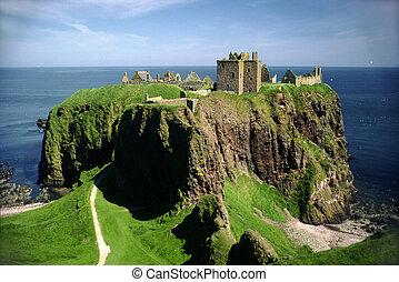 dunnottar, aberdeen, castillo, escocia, stonehaven