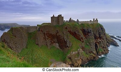 dunnottar castle, schottland, -, eingestuft, version