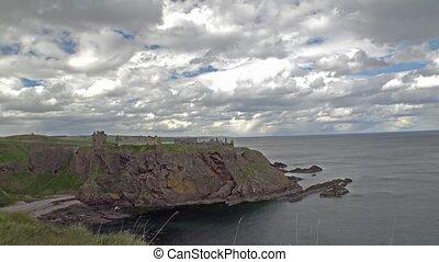 Dunnottar castle time lapse, Scotland, UK - EUrope