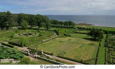 Dunrobin Castle Gardens, Scotland- Ungraded Version -...