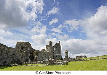 Dunstanburgh Castle and sky - Dunstanburgh Castle,...