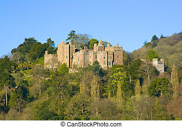 dunster castle - A view looking up towards Dunster Castle in...