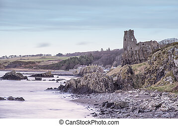 Dunure Castle south Ayrshire Scotland - The Ancient Ruins of...