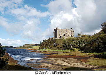 Dunvegan Castle and harbour