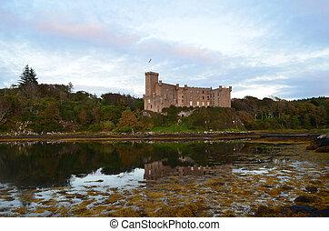 Dunvegan Castle in Loch Dunvegan