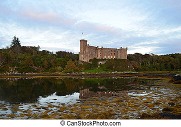 Dunvegan Castle in Loch Dunvegan