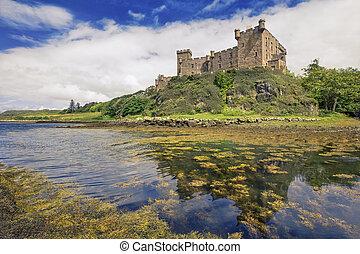 Dunvegan castle on the Isle of Skye, Scotland - Dunvegan...