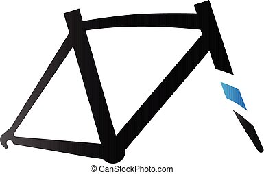 Duo Tone Icon - Bicycle frame