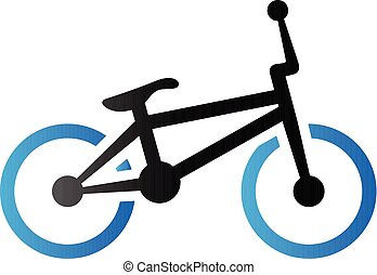 Duo Tone Icon - BMX bicycle - BMX bicycle icon in duo tone...